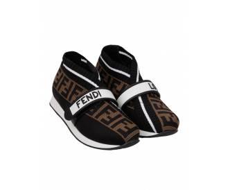 Кроссовки Fendi коричневые женские