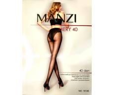 MANZI 40 Den эластичные колготки с ажурными трусиками