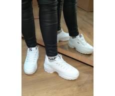 Женские кроссовки белые в стиле фила FILA Ful