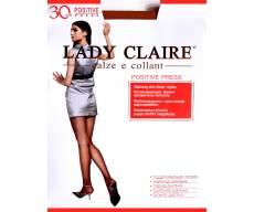 LADY CLAIRE 30 Den POSITIVE PRESS релаксирующие  прозрачные колготки
