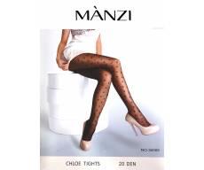 MANZI 20 Den непрозрачные  белые колготки с рисунком