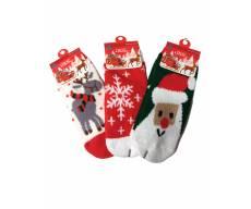 Носки с новогодним принтом шубка